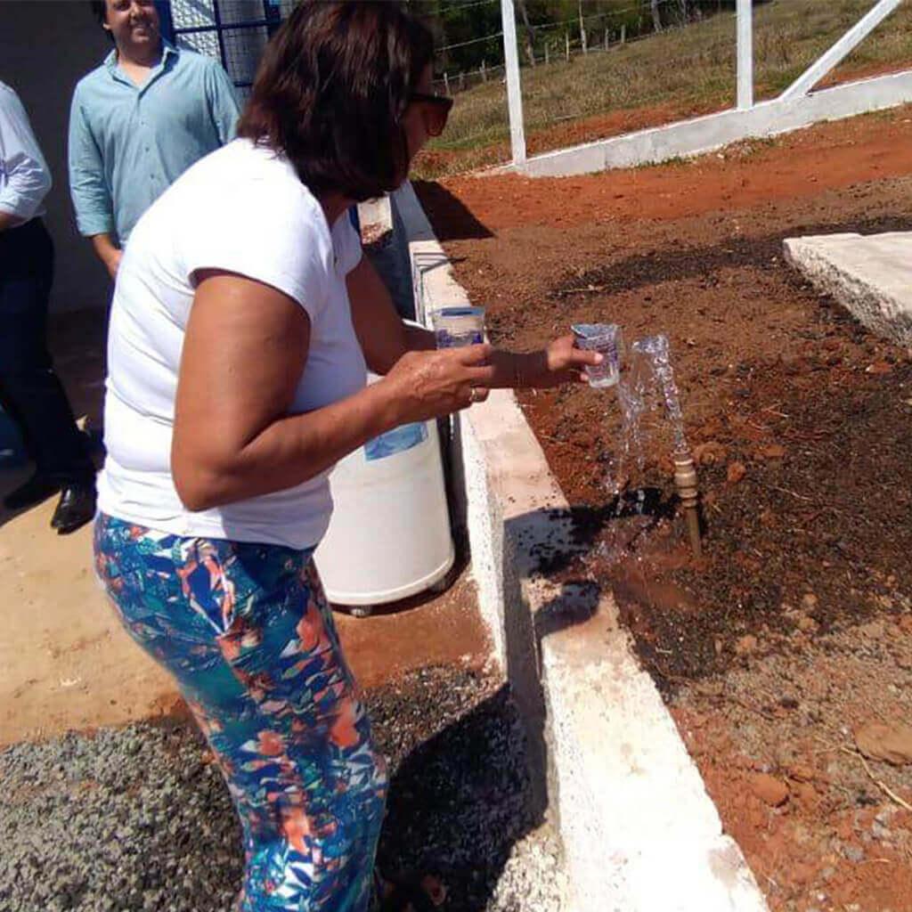 Inauguração do novo sistema de água de douradinho - Saae Machado MG (2)
