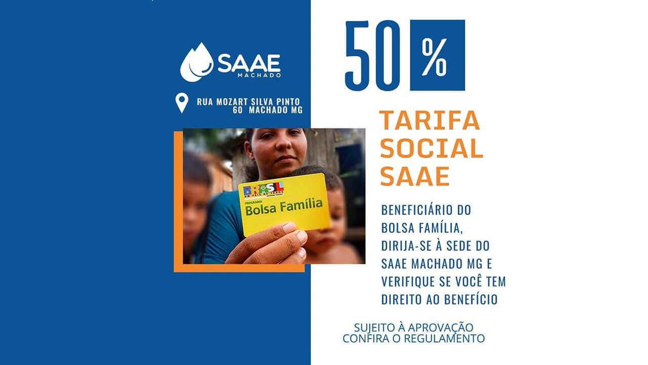 TARIFA SOCIAL SAAE MACHADO MG