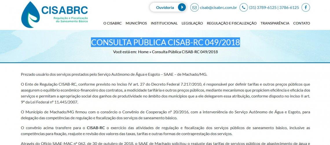 Consulta Pública 2018