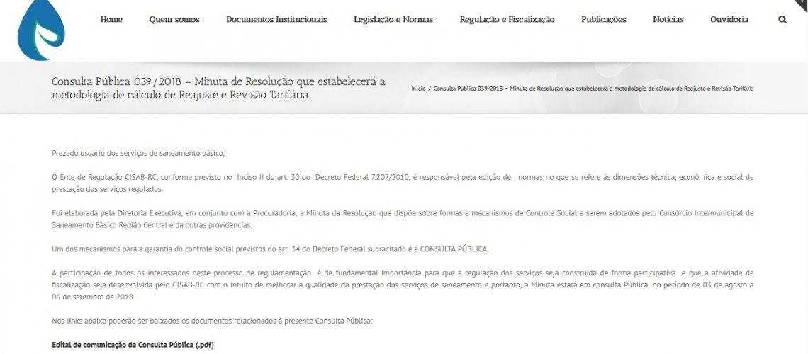 Consulta Pública Cisab