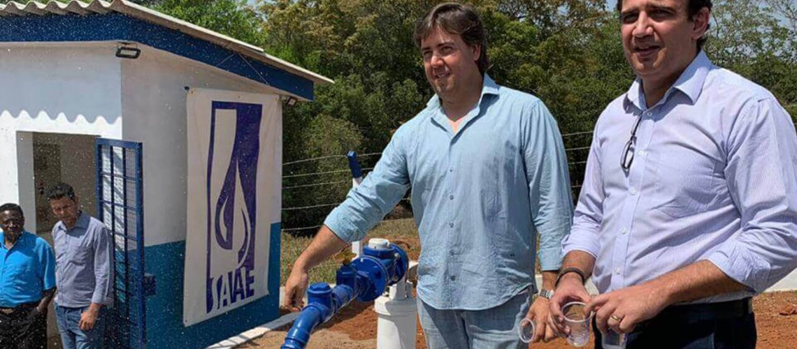 Imagem Principal - Inauguração do novo sistema de água de douradinho - Saae Machado MG